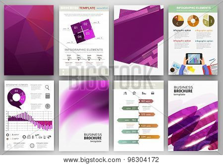 Purple Backgrounds And Abstract Concept Infographics