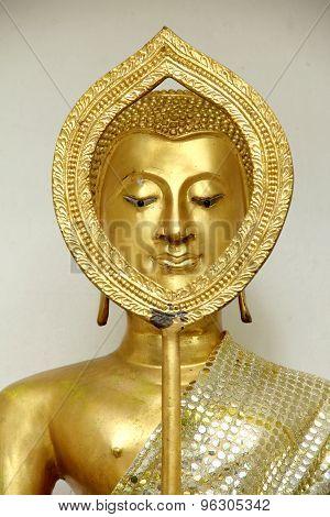 Buddha Statue Face Gold
