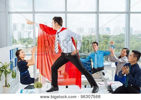 Manager In A Red Cape