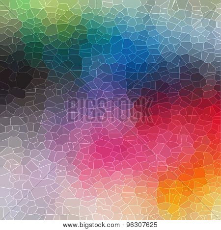 colorful random crystal background vector