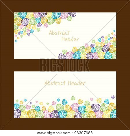 colorful abstract shape banner design stock vector