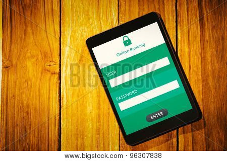 Online banking against tablet pc