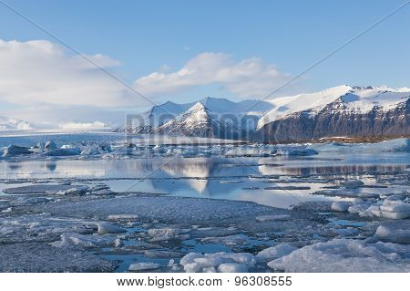 Jokulsarlon lagoon, Beautiful cold landscape