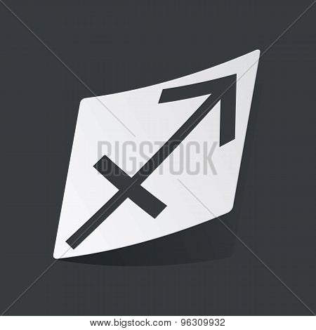 Monochrome Sagittarius sticker