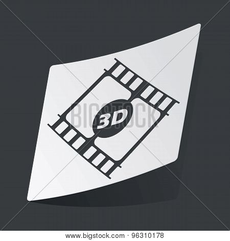 Monochrome 3D movie sticker