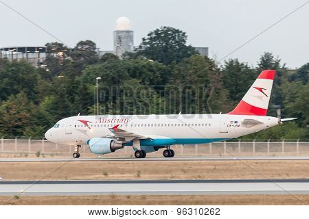 Airbus A320 Of The Austrian Airlines