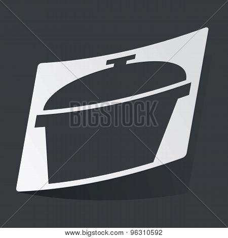 Monochrome pot sticker