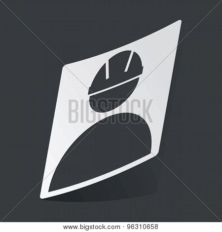 Monochrome builder sticker