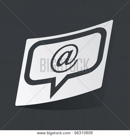 Monochrome e-mail message sticker