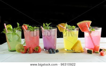 Mojito Cocktail Of Several Tropical Flavors