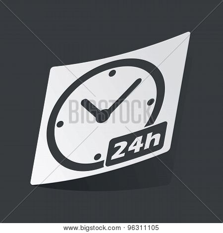 Monochrome 24h workhours sticker
