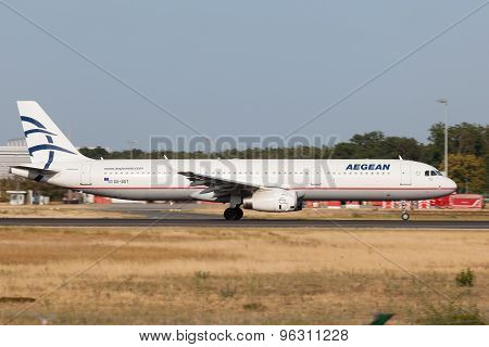 Airbus A321 Of The Aegean Airlines