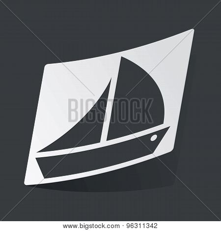 Monochrome sailing ship sticker