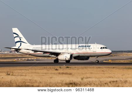 Airbus A320 Of The Aegean Airlines