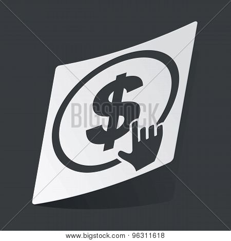 Monochrome dollar click sticker