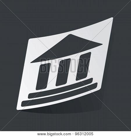 Monochrome museum sticker