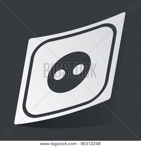 Monochrome socket sticker
