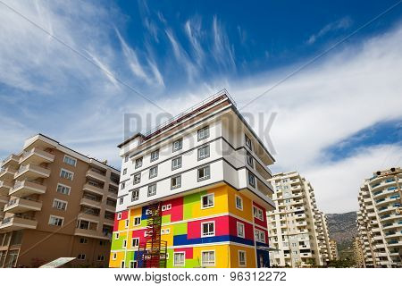 Color Building Under Construction