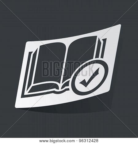 Monochrome select book sticker