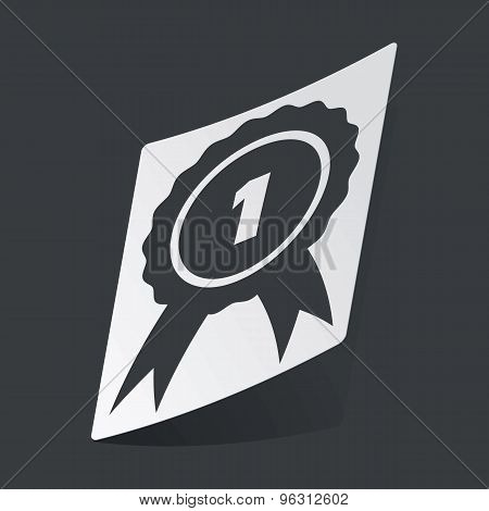 Monochrome 1st place award sticker