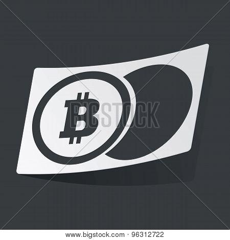 Monochrome bitcoin coin sticker