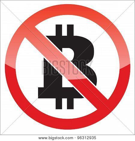 Bitcoin forbidden icon
