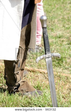 Knightly Clothing And Sword