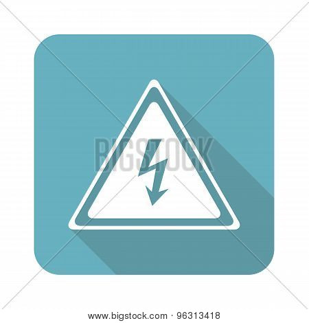 Square high voltage icon