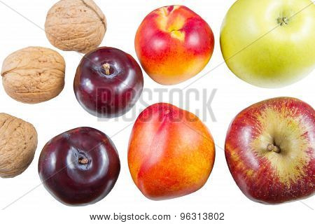 Fresh Fruits And Walnut .