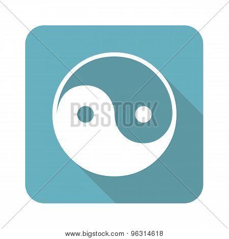 Square ying yang icon