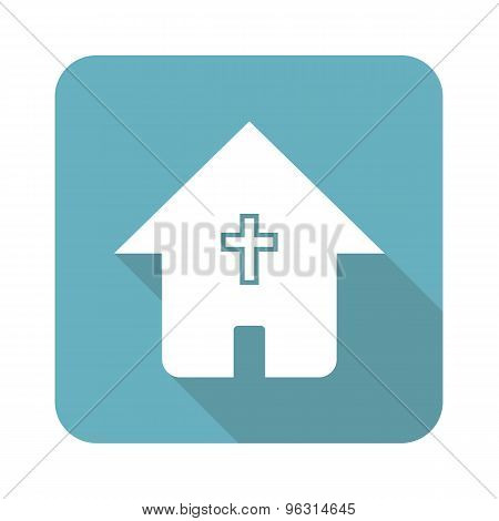 Square christian house icon