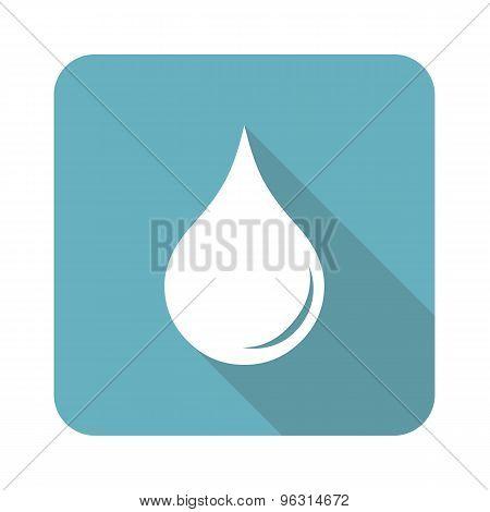 Square water drop icon