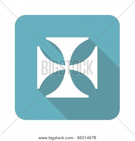 Square maltese cross icon