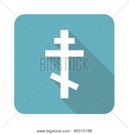 Square orthodox cross icon
