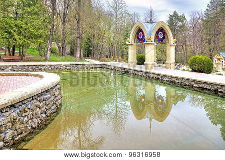 Kislovodsk. Mirror Pond And Glass Pavilion Stream. Built In 1895-1896 Years