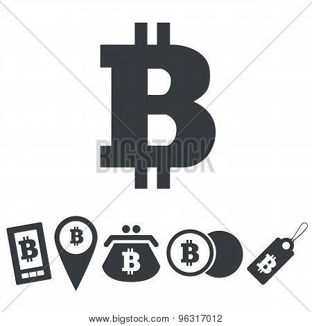 Simple bitcoin icon set