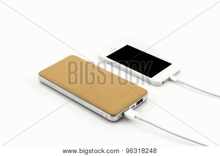 Yellow Power Bank Usb Cable For Smartphone .
