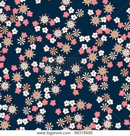 background romantic floral seamless pattern.