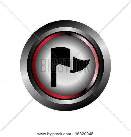 Flag sign buton vector design eps template.