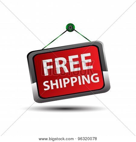 Free Shipping icon Button vector design template.