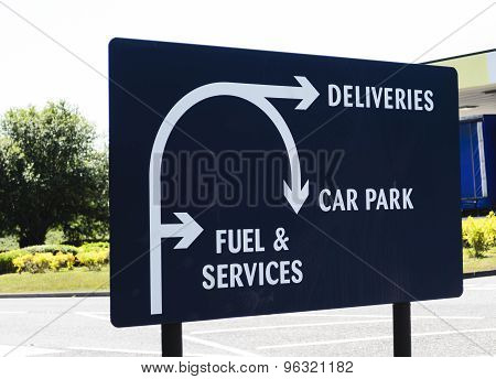 A sign for deliveries