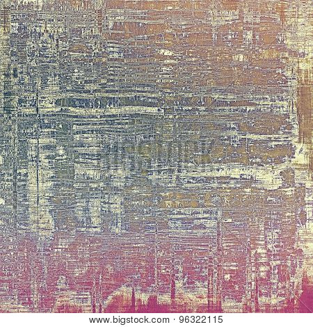 Grunge retro vintage textured background. With different color patterns: yellow (beige); brown; blue; purple (violet)