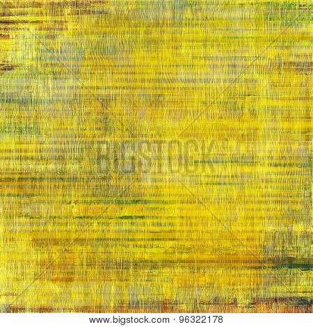 Weathered and distressed grunge background with different color patterns: yellow (beige); brown; green