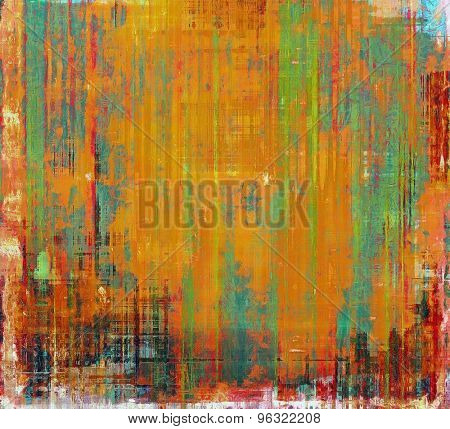 Grunge texture. With different color patterns: yellow (beige); green; red (orange); blue