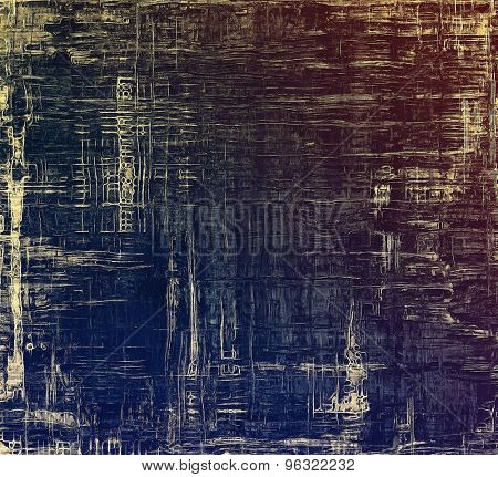 Vintage spotted textured background. With different color patterns: yellow (beige); brown; blue; purple (violet)