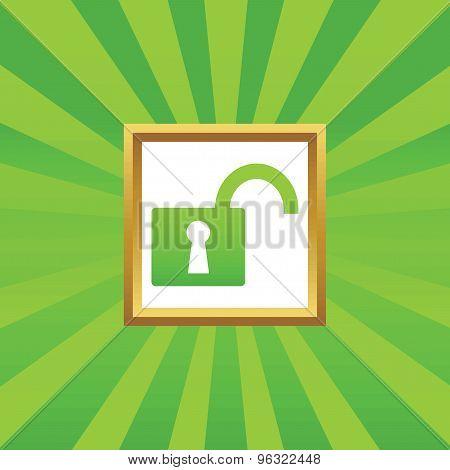 Unlocked picture icon