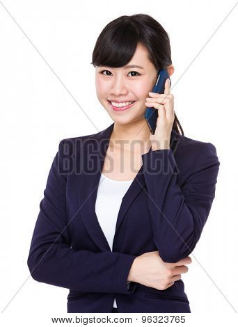 Asian young businesswoman talk to cellphone