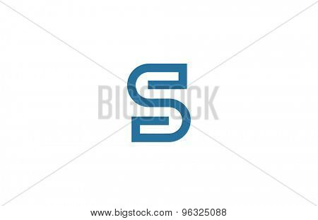 Letter S Logo vector design element template. ABC concept type as logotype. Typography icon line art alphabet