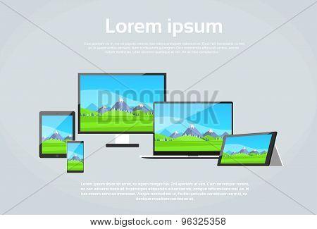 Responsive Design Photo Page Laptop Phone Tablet Desktop