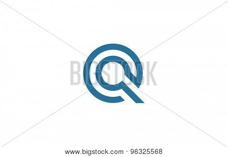 Letter Q Logo vector design element template. ABC concept type as logotype. Typography icon line art alphabet